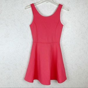 H&M Divided coral textured skater dress